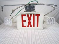 Lithonia Lighting Exit Sign Light Safety Emergency with Hardware and Mount