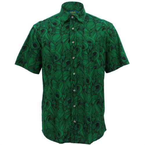Mens Shirt Loud Originals REGULAR FIT Blackhole Green Retro Psychedelic Fancy