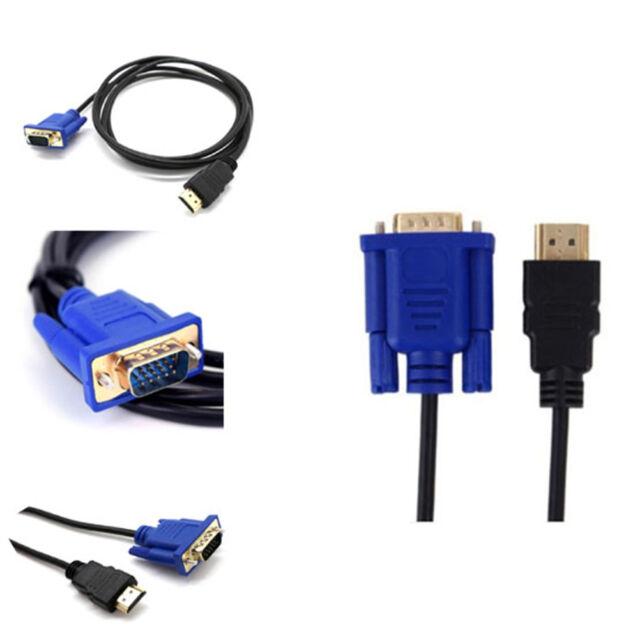 1m 10m adapter vga male to hdmi hd+ audio tv av hdtv video cable converteQ9Q