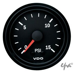 VDO-BOOST-GAUGE-BLACK-0-15PSI-52MM-TURBO-DIESEL-LANDCRUISER-PATROL-GQ-GU-4WD