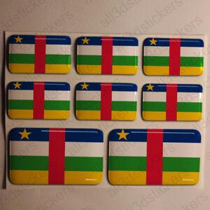 Pegatinas-Republica-Centroafricana-Pegatina-Bandera-Resina-Adhesivo-3D-Relieve