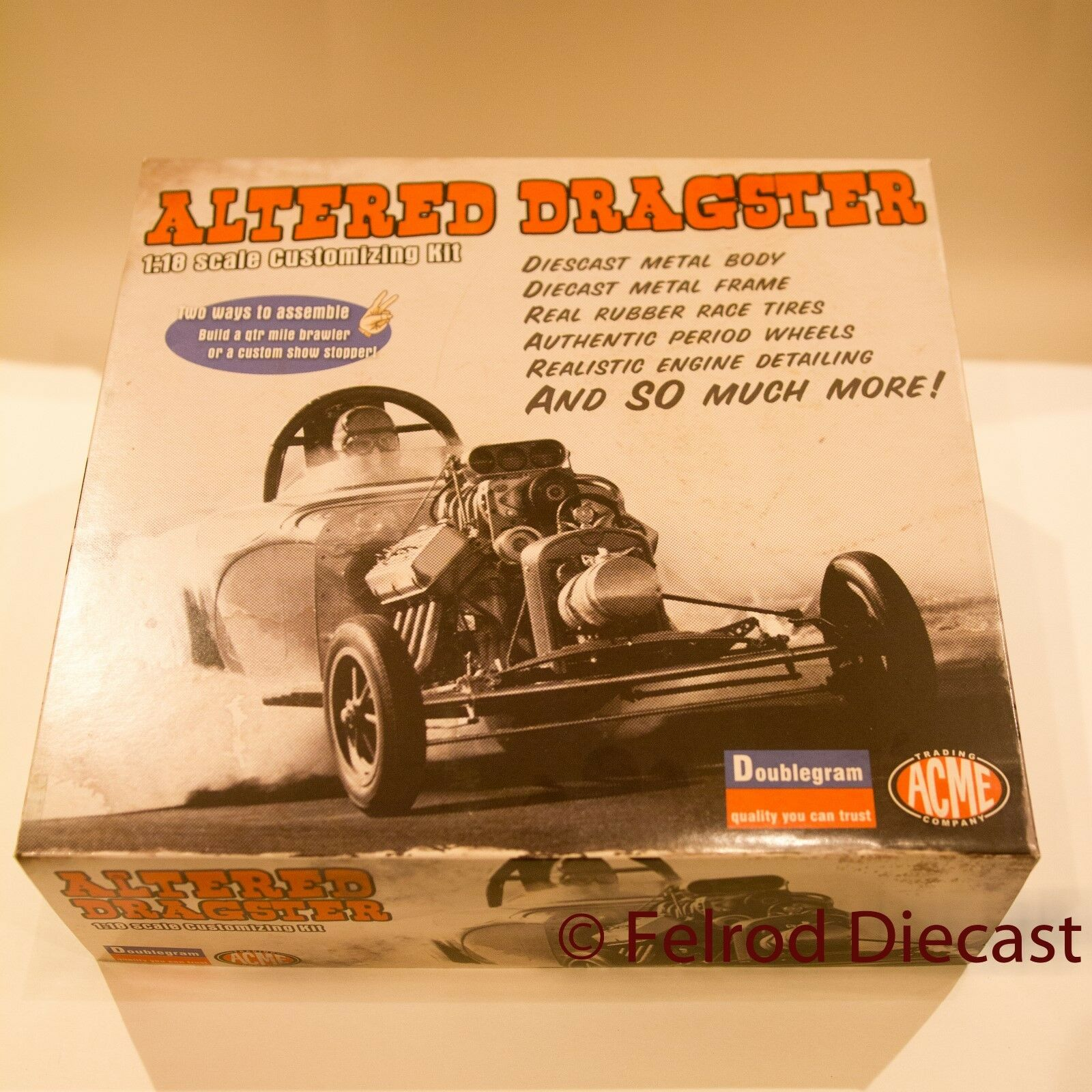 1 18 ACME Alterouge Dragster Diecast & Plastic Model Kit A1800807K