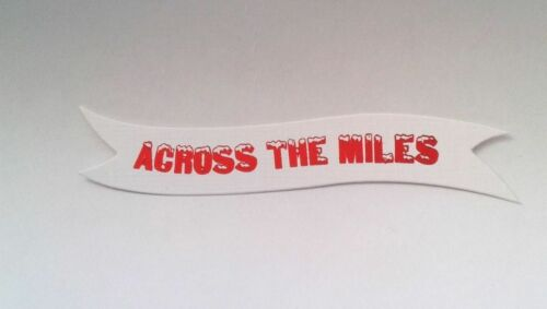 10 /'ACROSS THE MILES/' Foil Printed Christmas Banners  RED,SILVER or GOLD Print