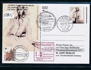 97915) Aa/lh Ff Frdhfn-berlin 31.3.02, Zeppelin Nt, Ga À Partir De Portugal-afficher Le Titre D'origine BéNéFique à La Moelle Essentielle