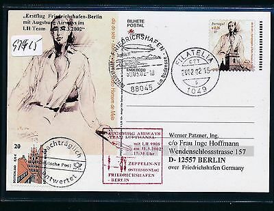 97915) Aa / Lh Ff Frdhfn - Berlin 31.3.02, Zeppelin Nt, Ga Ab Portugal NüTzlich FüR äTherisches Medulla