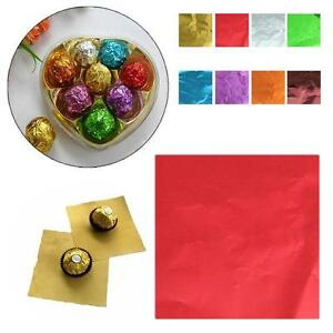 100pcs-3-94-034-Square-Candy-Sweets-Chocolate-Lolly-Foil-Wrappers-Confectionary-S