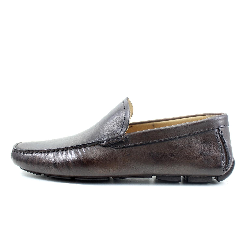 memorizzare Uomo mocassin Marrone CAR scarpe leather leather leather scarpe handmade Italian GIORGIO REA 7882MA  il più economico
