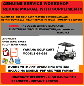 1999 yamaha g16 gas wiring diagram yamaha golf cart g1 to g29 factory service repair shop   maint  g1 to g29 factory service repair shop