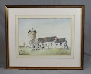 St-Andrews-Church-Little-Snoring-Norfolk-Watercolour-Painting-by-Roy-Haydon