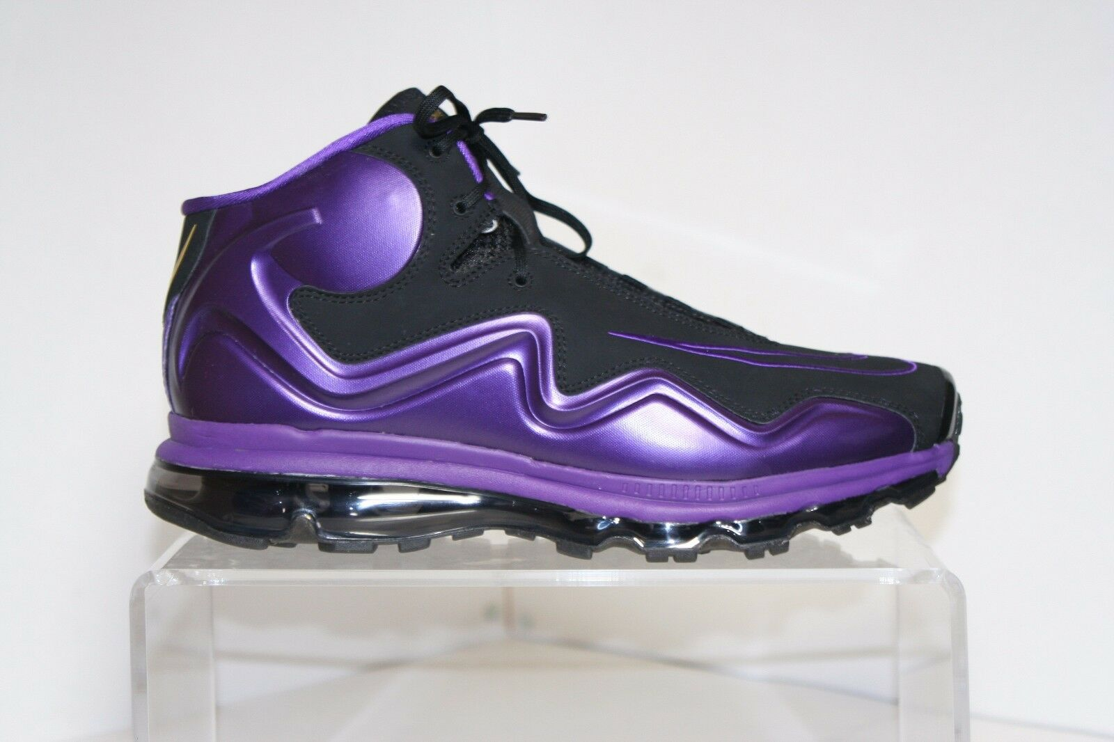 9f618d202f Nike Air Max Flyposite 2012 Sneaker Black Purple Men 12 Football Training  Club nwirln2045-Athletic Shoes