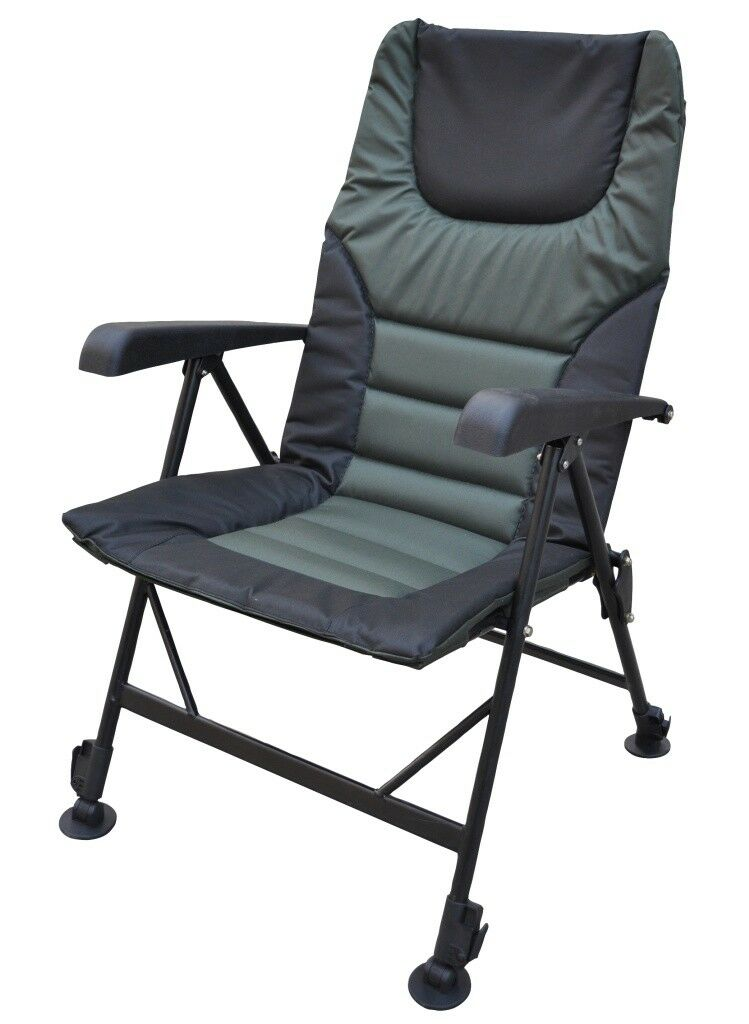 Jenzi Ground Contact Deluxe Chair with Armrest   Karpfenstuhl