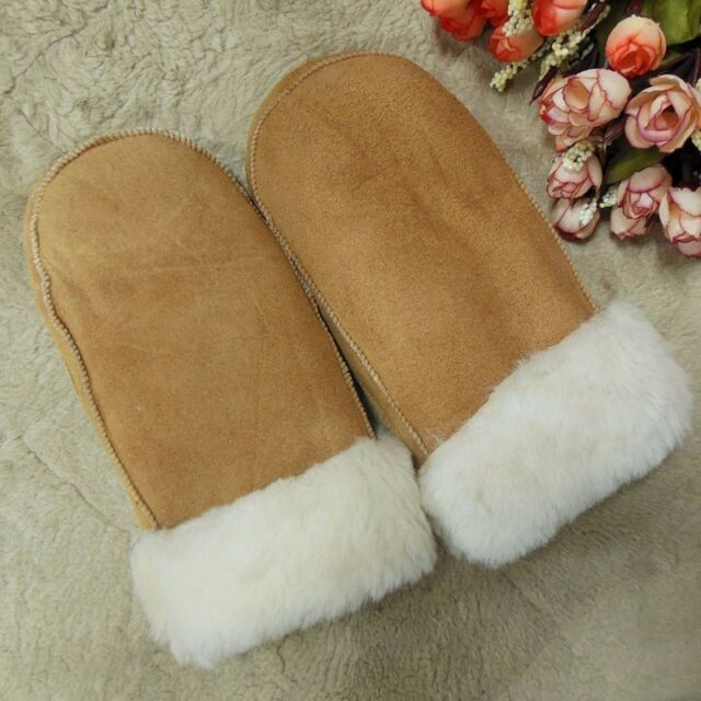 Real Sheepskin Lady Winter Women Mitten Gloves Women Winter Warm Mittens Choice