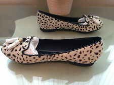Ladies Next beige faux animal hair tassel loafer pumps UK 4 EU 37 New RRP £45