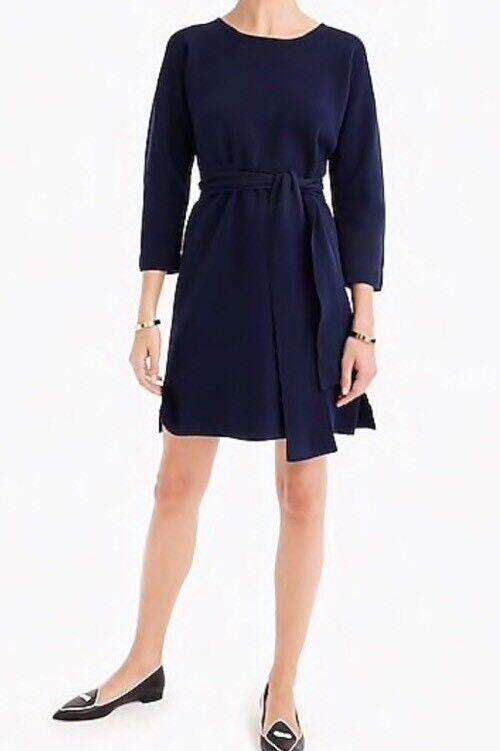 NWT JCREW  Tie-waist cotton dress GrößeM H6940 Indigo Sea
