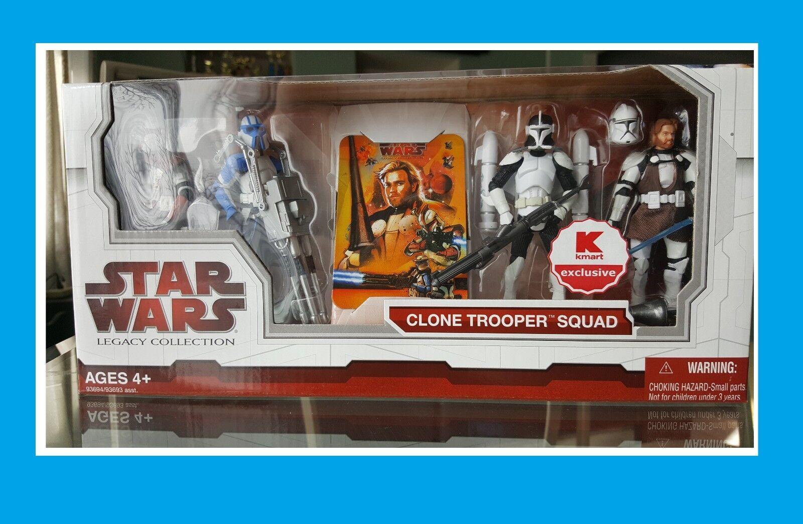 Nuevo Star Wars El Legado Colección Clone Trooper escuadrón Kmart Exclusivo