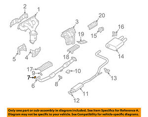 Nissan Oem 02 06 Altima 2 5l L4 Exhaust Front Pipe Seal 206958j010 Ebay