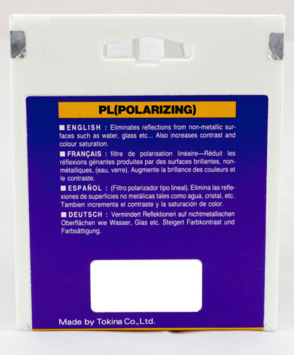 Hoya 58mm LINEAR Polarizer PL Glass Lens Filter Authorized USA Dealer B--58PL-GB