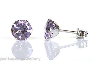 9ct-White-Gold-Amethyst-6mm-Stud-earrings-Gift-Boxed-studs