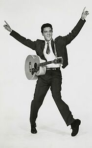 Framed-Print-Elvis-Presley-with-Guitar-Picture-Poster-Rock-and-Roll-Singer