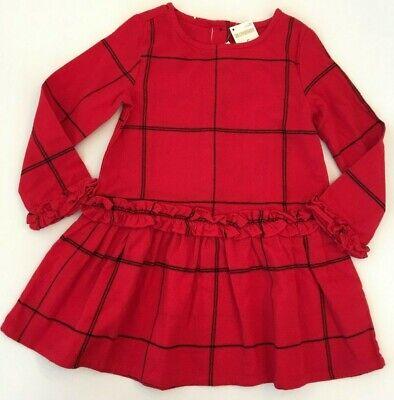 Gymboree Girls Red Flannel Dress 5 6 7 NEW $39.95