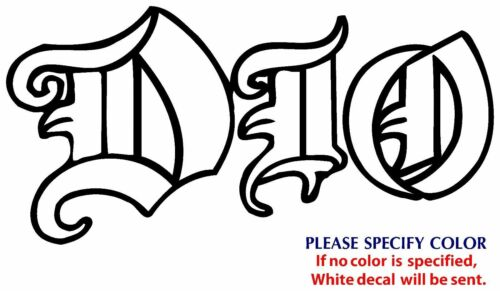 Dio Metal Music Rock Graphic Die Cut decal sticker Car Truck Boat  window 12/""