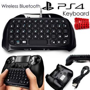 Bluetooth inalámbrico Teclado Chatpad Controlador para PlayStation PS4 Gamepad n