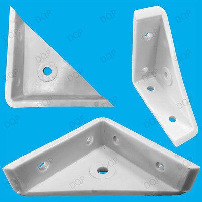 Furniture 6x 65mm Cranked Corner Gusset Brace Angle Brackets Kitchen Cabinet