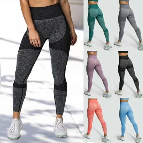 Women High Waist Yoga Pants Seamless Leggings Sport Gym Fitness Stretch Trousers