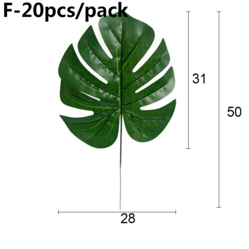 Tropical Palm Leaves Artificial Plant Hawaiian Party Decoration Simulation Leaf~