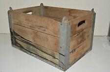Vintage 1955 Golden State Co Ltd DAIRY Worn Aged Wooden Milk Crate Box Rare