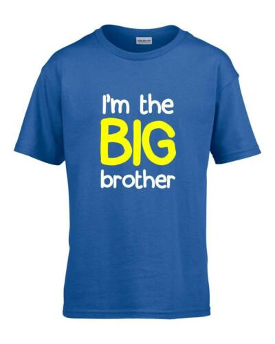 I/'M THE BIG BROTHER Boys T-Shirt 1-14 Years Blue Funny Joke Gift Present