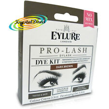 Eylure Pro Lash Dylash Eye Lash Dye Kit Dark Brown Permanent Eyelash Colour Tint
