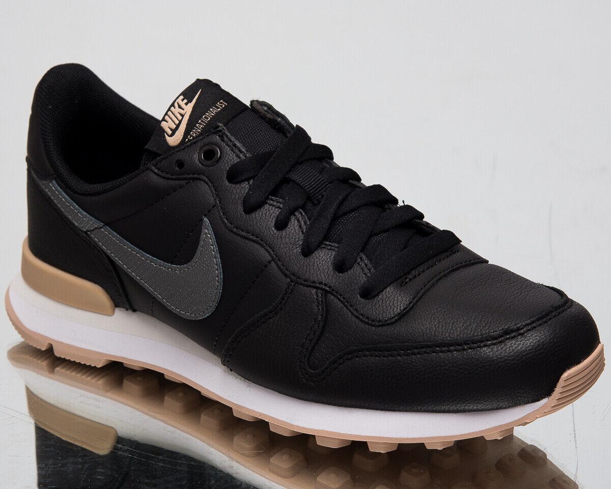 Nike Internationalist Premium Femme Neuf Noir Lifestyle Baskets 828404-019