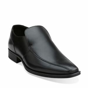 Clarks Men's Flenk Step Black Leather
