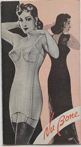 Nu Bone Corsets 1945-50 Advertising Brochure ~ The Nu Bone Company Erie PA