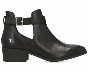 Windsor-Smith-Women-039-s-Leather-Rowina-Boot-Black