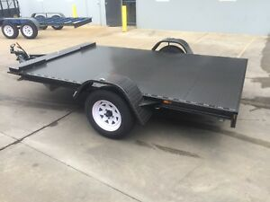Details about BRAND NEW SINGLE AXLE CAR TRAILER 1 4T ATM 10X6 6FT SUIT  MOWERS BIKES SMALL CARS