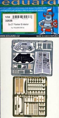 eduard Su-27 Flanker B interior cockpit Instrumente Ätzteile1:32 Trumpeter kit