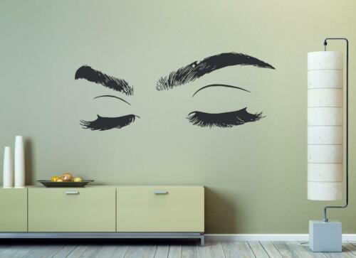 Eyelashes Eye Wall Decal Eyelashes Eye Wall Sticker Girls Closed Eyes Decor se05