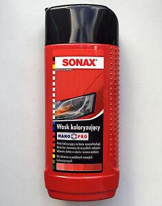 sonax polish wax color nano pro red color car polisher. Black Bedroom Furniture Sets. Home Design Ideas