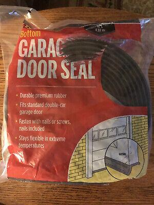 Black 3749 Garage Door Bottom Rubber 16 Feet Pack of 2 M-D Building Products