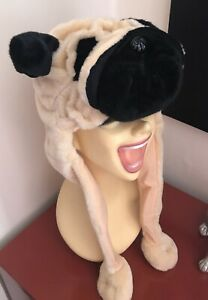 BNWOT-Unusual-Pug-Warm-Winter-Hat-Dog-Lover-Gift-Novelty-Quirky-Furry