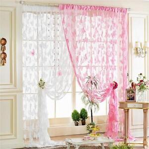 Romantic-Butterfly-Print-Sheer-Curtain-Panel-Window-Balcony-Tulle-Room-Divider-H