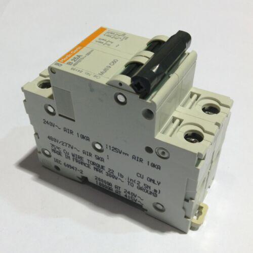 New 24135 Square D Merlin Gerin Multi 9 C60 25 Amp 2 Pole Circuit Breaker