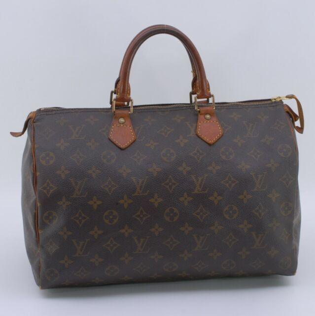 LOUIS VUITTON Monogram Speedy 35 Hand Bag M41524 Authentic from Japan #408