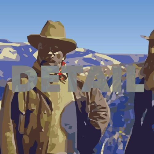 Yosemite WPA Style Vintage Travel Poster 12x18 John Muir Theodore Roosevelt
