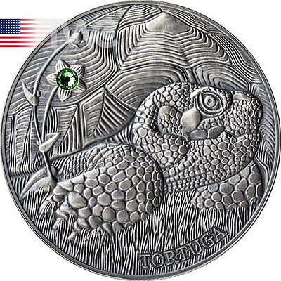 Andorra 2014 10 diner Pond Turtle - Atlas of Wildlife Antique finish Silver Coin