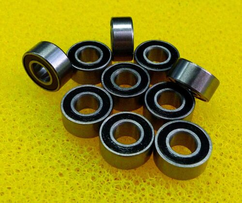 7x13x4 mm 10 PCS MR137-2RS Rubber Sealed Ball Bearing Bearings BLACK 7*13*4