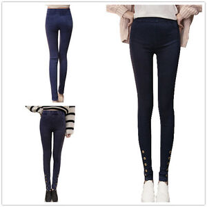 New Womens Skinny Slim Leggings Jeggings Stretch Jeans Pants TrousersSize 8-16