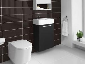 Détails sur Meuble de salle de bain Athene Bois noir 40x20 cm Armoire de  rangement Meuble la